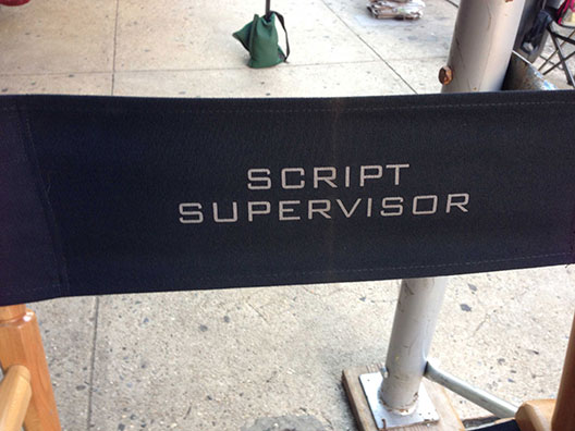 Script Supervisor chair on Person of Interest
